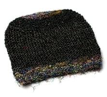 ヘンプとアートシルクのロールハット帽 【ブラック】