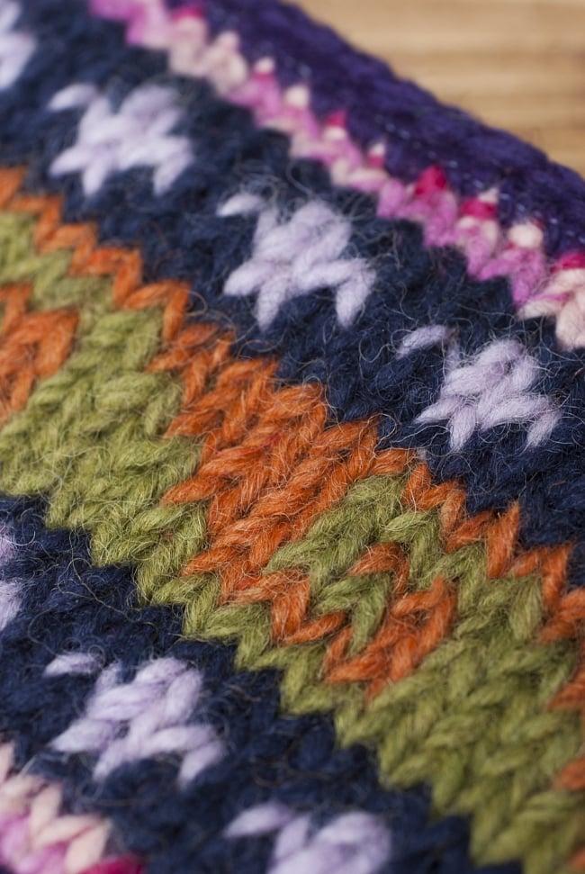 ウールとフリースのあったかヘアバンド 4 - ふんわりした毛糸が暖かいです。
