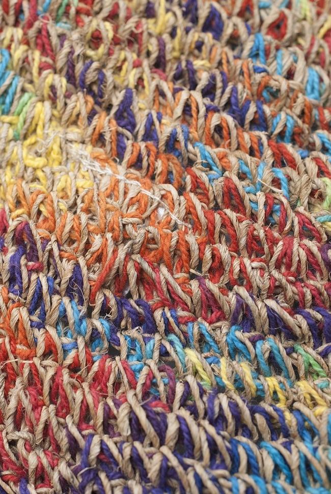 ヘンプのとんがりハット 5 - しっかり編まれているので丈夫です!