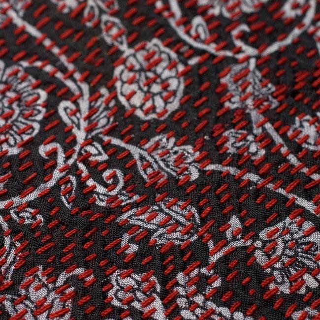 【1点物・インド最高級品】インドのカンタ刺繍ストール 10 - 他の部分をアップにしてみました。