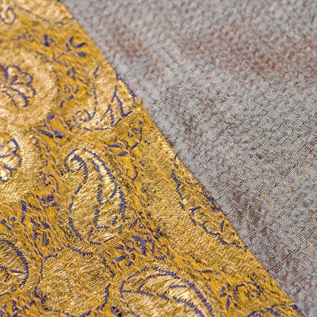 【1点物・インド最高級品】インドのカンタ刺繍ストール 11 - 他の部分をアップにしてみました。