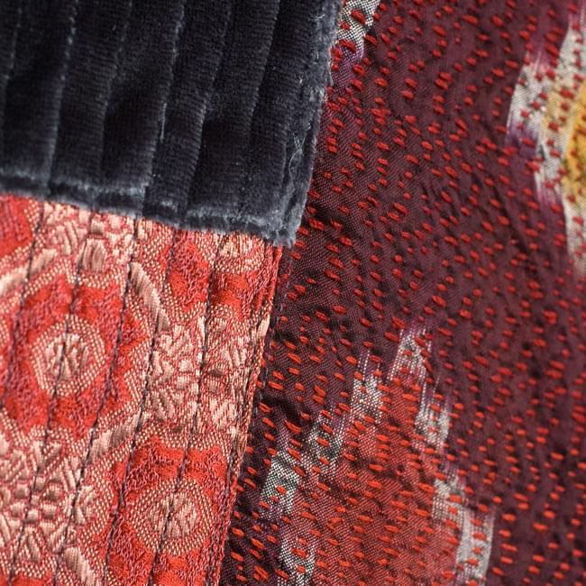 【1点物・インド最高級品】インドのカンタ刺繍ストール 13 - 他の部分をアップにしてみました。