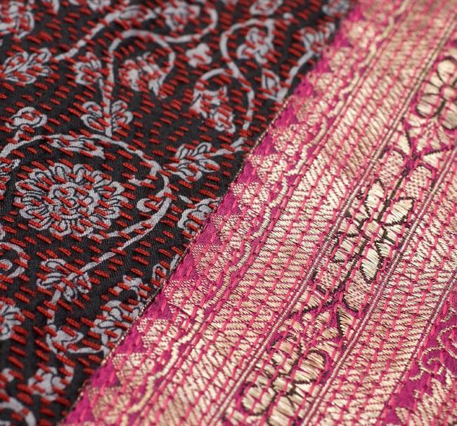 【1点物・インド最高級品】インドのカンタ刺繍ストール 18 - 他の部分をアップにしてみました。