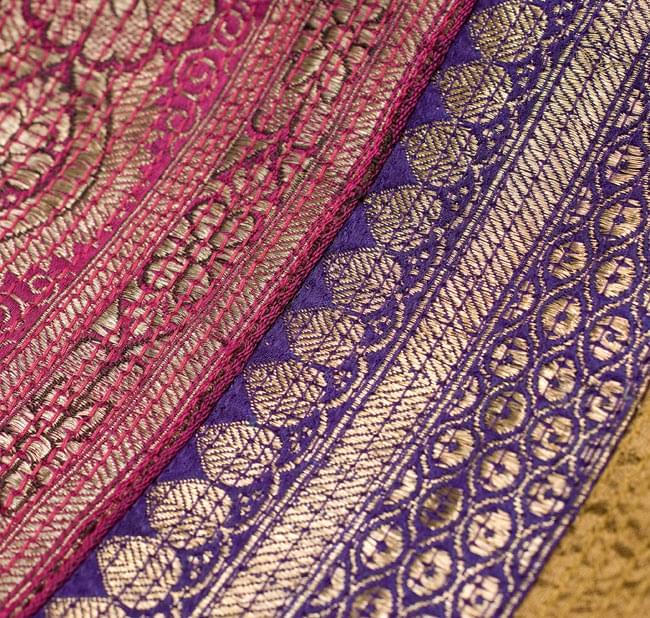 【1点物・インド最高級品】インドのカンタ刺繍ストール 19 - 他の部分をアップにしてみました。