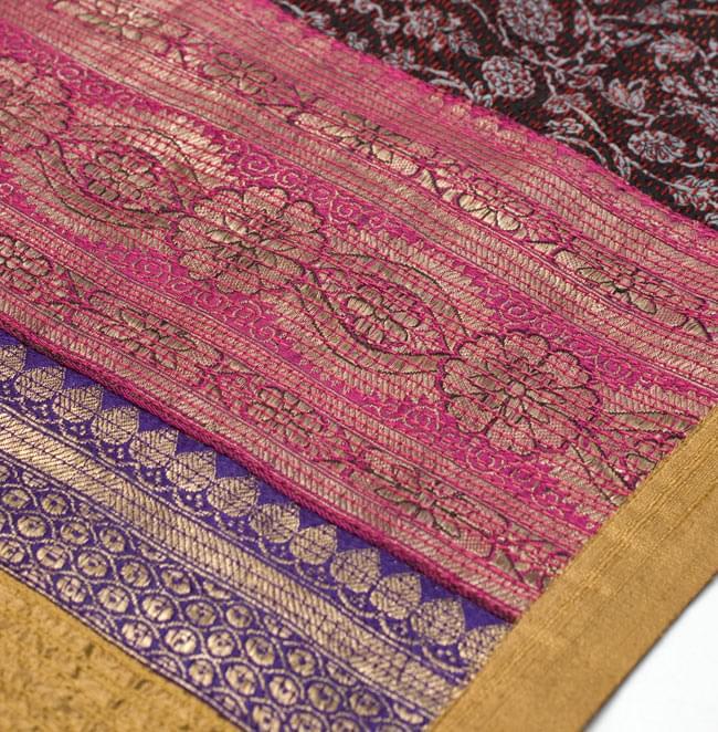 【1点物・インド最高級品】インドのカンタ刺繍ストール 8 - 他の部分をアップにしてみました。