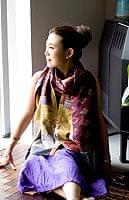 【1点物・インド最高級品】インドのカンタ刺繍ストール