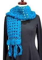 [スペシャルセール]模様編みのシンプルマフラー