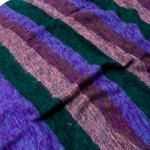 はたおり起毛ふんわりショール - ボーダー系-選択:D-紫×ダーク系