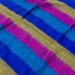 はたおり起毛ふんわりショール - ボーダー系-選択:G-ピンク×青×緑