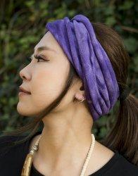 ネパールのカラフルリングターバン - 紫色