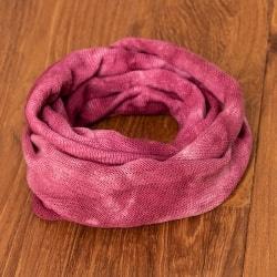 ネパールのカラフルリングターバン - ピンク&紅色