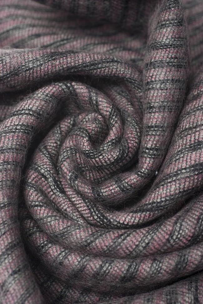 ふんわり起毛のライトスヌード - ダークピンク系 3 - シックな色合いが素敵ですね。
