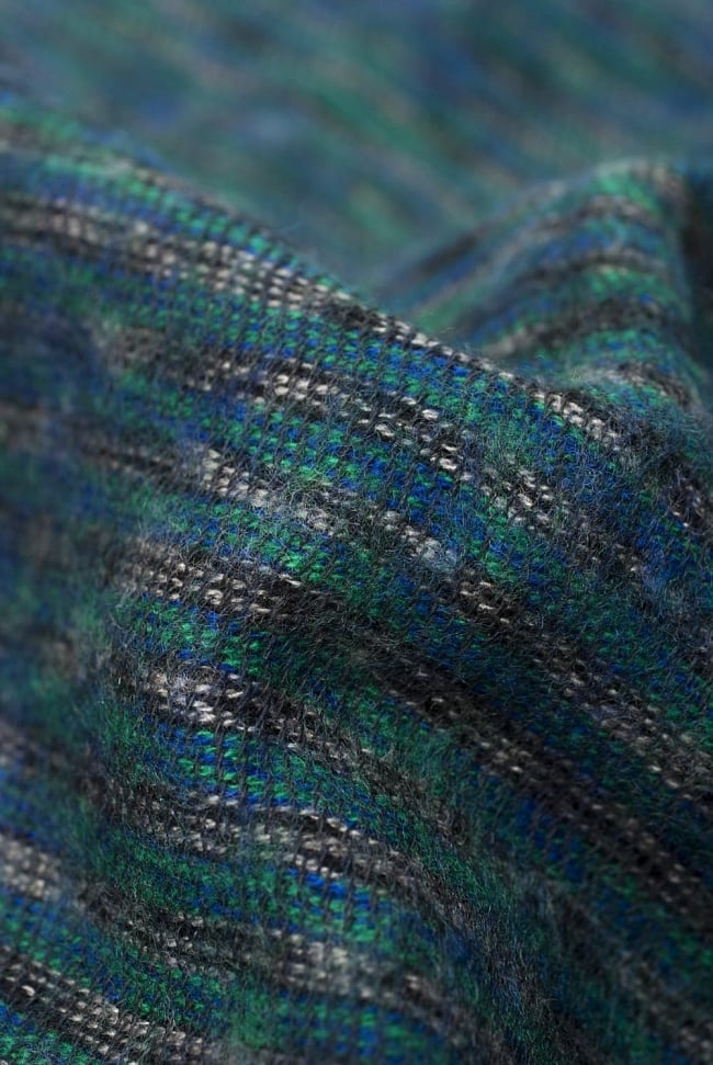 ふんわり起毛のライトスヌード - グリーン系 2 - 起毛がふんわりとして、軽いのにとても暖かいです。