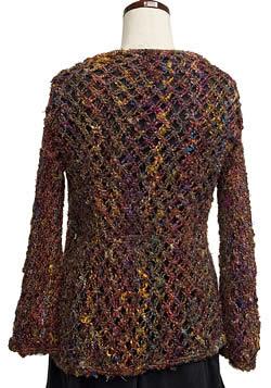 シルク編みカーディガン 2 - 後ろから見たところ