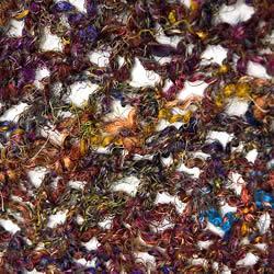 シルク編みカーディガン 3 - 拡大写真。リサイクルシルクがカラフルです