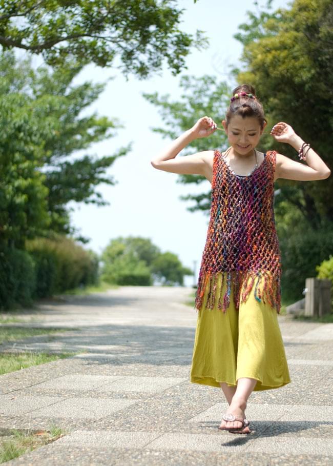 シルク編みベスト-ロングの写真