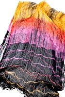 インドの薄ショール クリンクル タイダイドゥパッタ - 黒