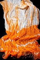 インドの薄ショール クリンクル タイダイドゥパッタ - やまぶき