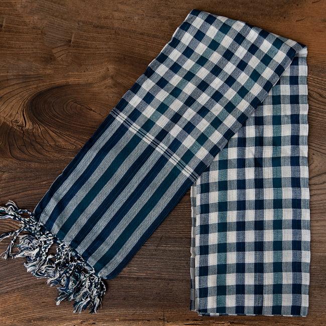 カンボジアからやってきた万能布 クロマーLサイズ【約60cm×160cm】 2 - コットン製だから吸収性もよく、速乾で本当に使いやすい1枚です。