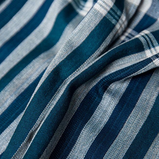 カンボジアからやってきた万能布 クロマーLサイズ【約60cm×160cm】 4 - クシュクシュとしてみました。柔らかい素材が気持ち良いです。