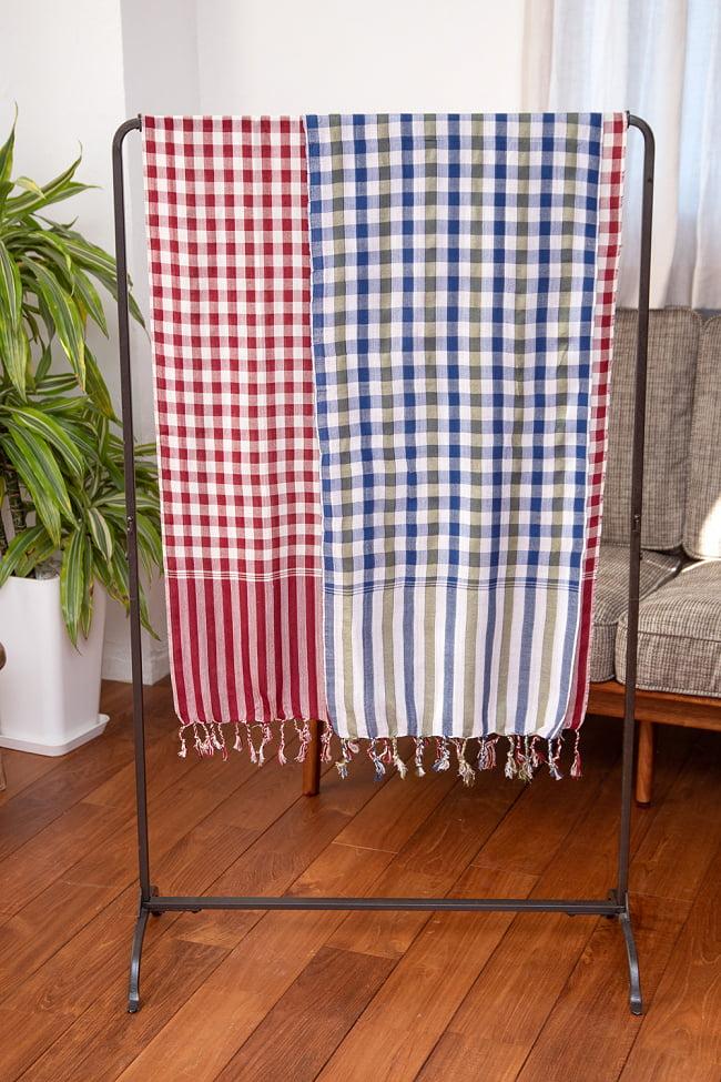 カンボジアからやってきた万能布 クロマーLサイズ【約60cm×160cm】 7 - サイズSとLを比較してみました。どちらもそれぞれ使いやすいです。