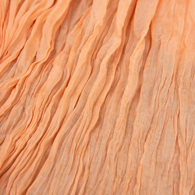 プレーン無地のインドのクリンクルストール 2 - 柔らかいコットン素材が肌に優しいです。