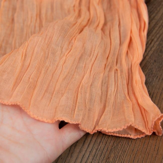 プレーン無地のインドのクリンクルストール 3 - 程よい薄手の透け感でオールシーズン使用できます。