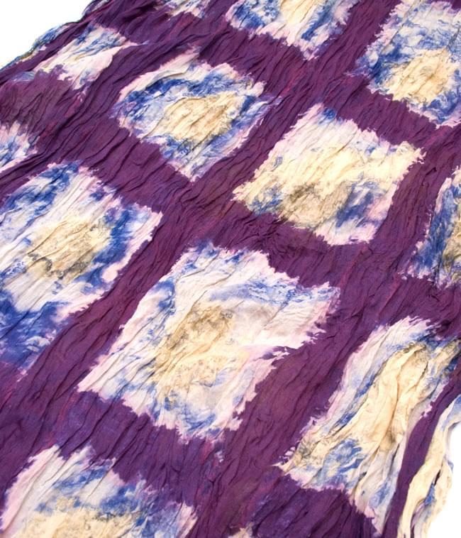 【タイダイ】インドのクリンクルストール- 紫 2 - 幅もあるので、使い勝手が良いです。