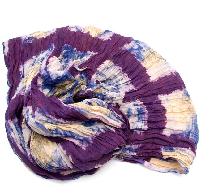 【タイダイ】インドのクリンクルストール- 紫の写真