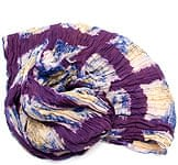(タイダイ) インドのクリンクルストール - 紫