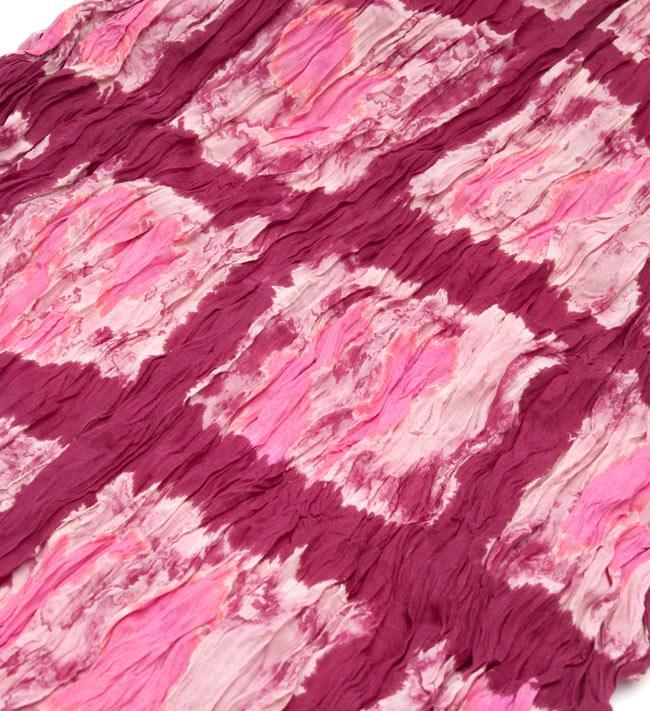 【タイダイ】インドのクリンクルストール- 赤×ピンクの写真2 - 幅もあるので、使い勝手が良いです。