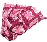 【タイダイ】インドのクリンクルストール- 赤×ピンク