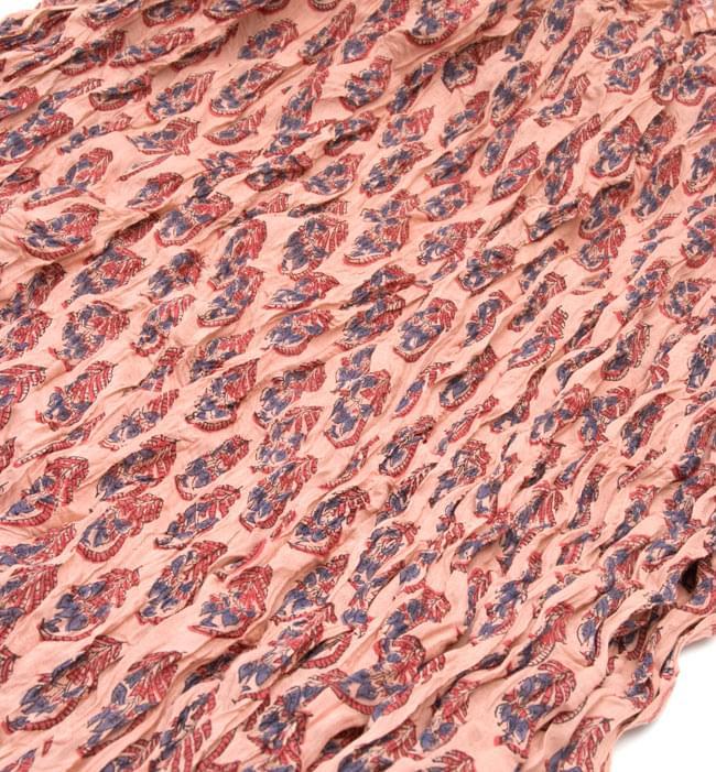 【ウッドブロック】インドのクリンクルストール- 退紅色の写真2 - 幅もあるので、使い勝手が良いです。
