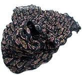 (ウッドブロック)インドのクリンクルストール - 黒×ピンク