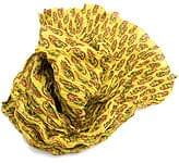 【ウッドブロック】インドのクリンクルストール- 黄緑