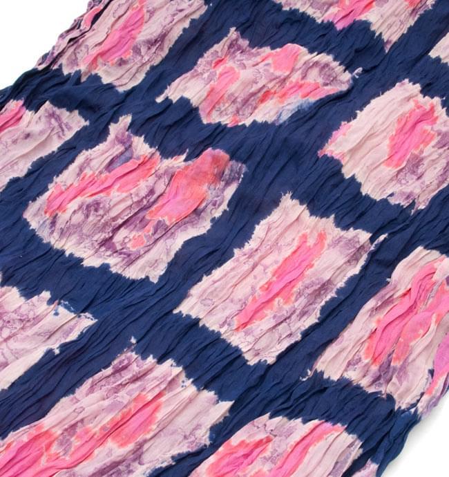 (タイダイ) インドのクリンクルストール - 紺×ピンク 2 - 幅もあるので、使い勝手が良いです。