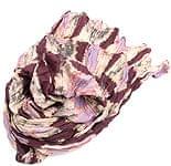 【タイダイ】インドのクリンクルストール- 紫×ベージュ