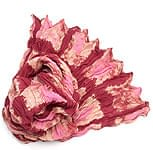 【タイダイ】インドのクリンクルストール- 小豆色×ピンク