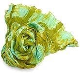 【タイダイ】インドのクリンクルストール- うぐいす色×若竹色