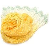 【ウッドブロック】インドのクリンクルストール- 黄色×白
