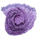 【ウッドブロック】インドのクリンクルストール- 紫×白