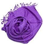 カディコットン風シンプルスカーフ- 紫
