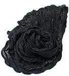 (ウッドブロック)インドのクリンクルストール - 黒