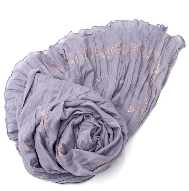 【ウッドブロック】インドのクリンクルストール- 薄紫の写真