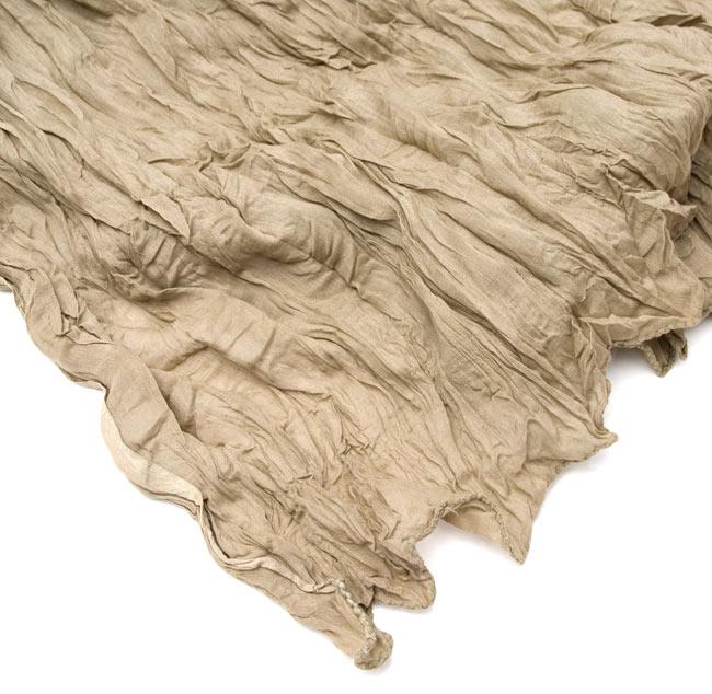 【プレーン】インドのクリンクルストール- エレファントスキン の写真3 - 端の部分はこのようになっております