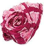 【タイダイ】インドのクリンクルストール- 赤紫×ピンク