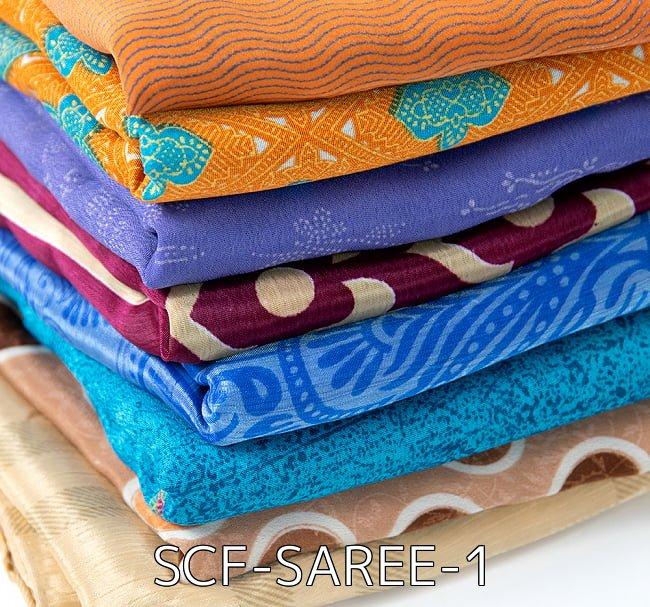 【選べる6個セット】オールドサリーのスカーフ 約100cm×100cm  2 - オールドサリーのスカーフ 約100cm×100cm (SCF-SAREE-1)の写真です