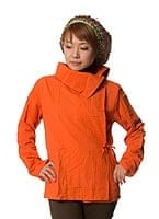 ウッドボタンのカシュクールジャケット 【ライトオレンジ】