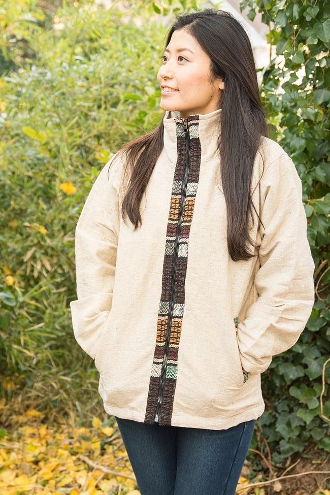 ネパールのゲリラインジャケット 6 - 選択E:ベージュ