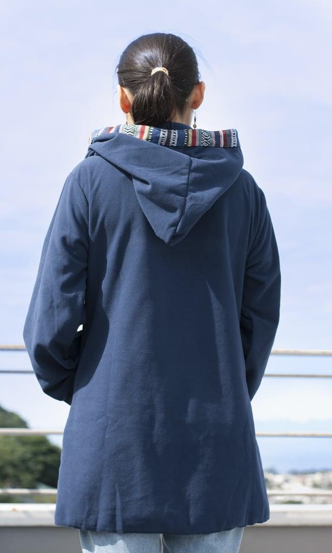 ネパールゲリラインのフリースジャケットの写真4 - L:ネイビー(ゲリ素材のポケット)